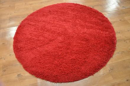 Dywan Jednobarwny Czerwień Okrąg