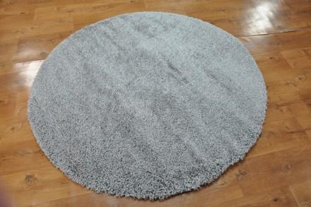 Dywan Jednobarwny szarość okrąg