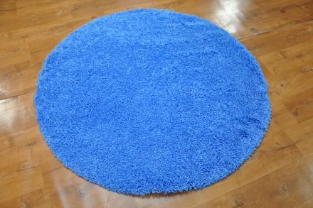 Dywan Jednobarwny Błękit Oceanu Okrąg