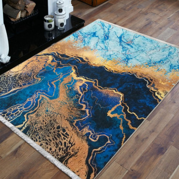 Dywan abstrakcja niebieska