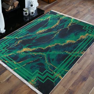 Dywan wzór zielony