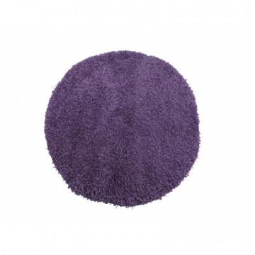 Dywan Jednobarwny fioletowy okrąg