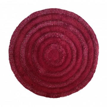 Dywan bordo-świecąca nitka okrąg