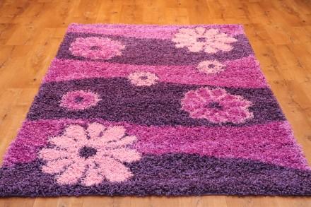 Dywan Kwiaty fiolet