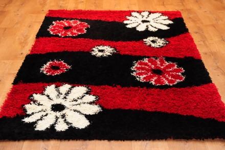 Dywan Kwiaty Czerwień