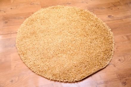 Dywan Jednobarwny Złoty Okrąg