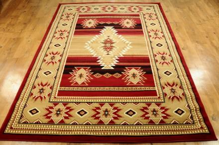 Dywan Indiański wzór czerwień