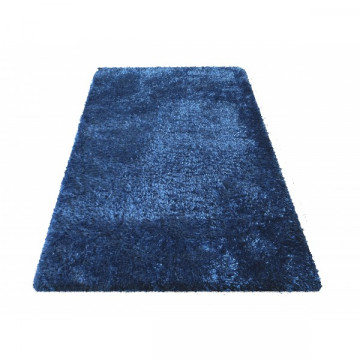 Dywan shaggy niebieski