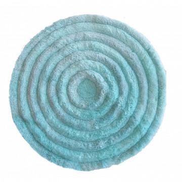 Dywan mięta-świecąca nitka okrąg