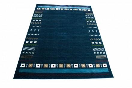 Dywan Kolorowe Wzory Niebieski