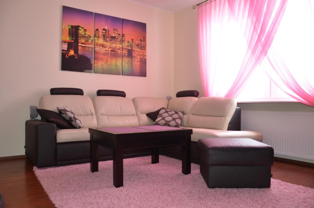 Konkurs na aranżację, Dywan jednobarwny różowy