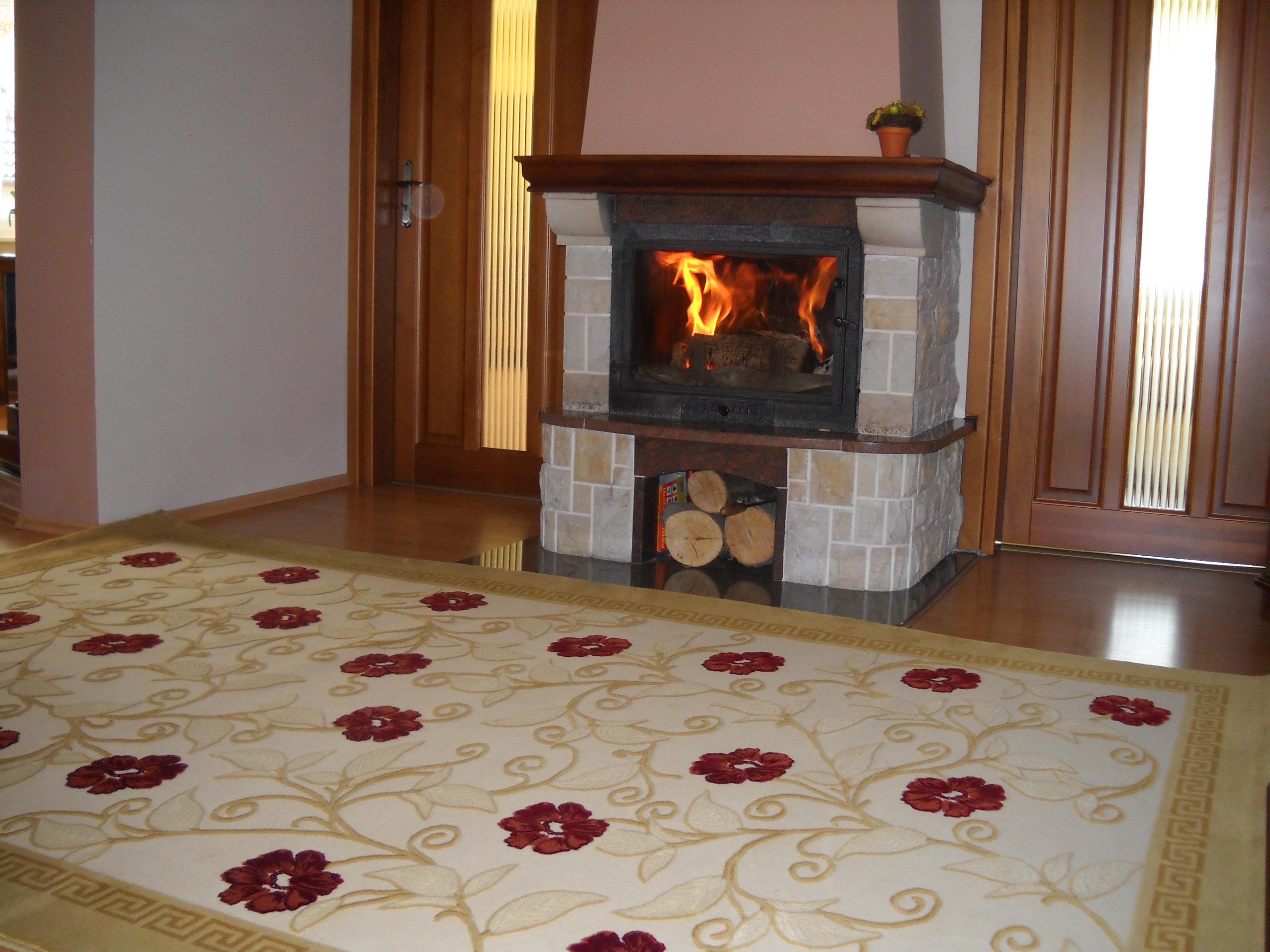 Aranżacja Dywan Mozaika Kwiatowa Beż